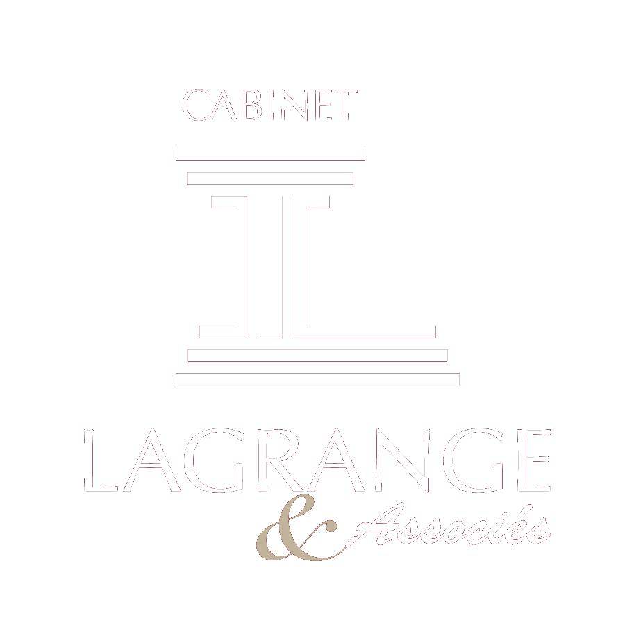 Logo blanc Cabinet Lagrange et associés, La roche sur Yon en Vendée